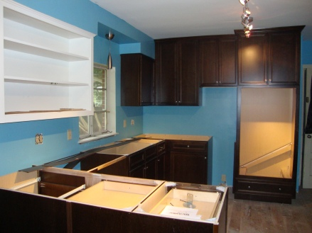 Western Wall, cabinets installed