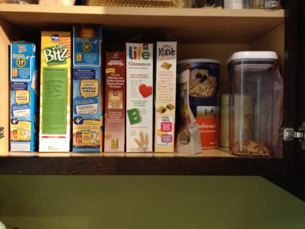 My cereal shelf